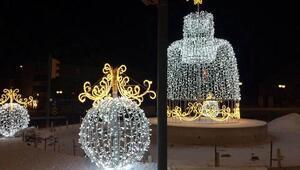 Erzincanda kavşaklar ışıklandırılıyor