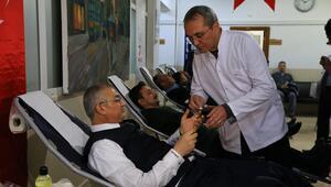 Ankara polisinden Kızılaya kan desteği