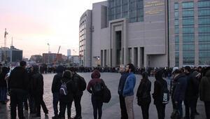 İstanbul Adalet Sarayında bu sabah... Akın akın gittiler