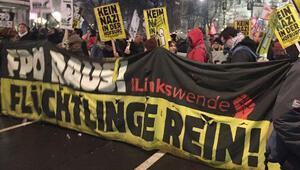 Viyana'da 'Anti Faşist' gösteri