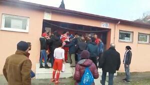 Zonguldakta amatör maçta kavga
