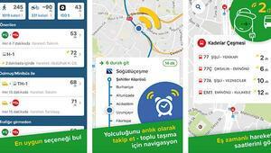 'Cep'ten otobüs ve metro takibi başladı