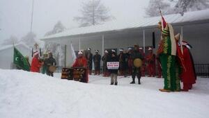 Muratdağı Termal Kayak Merkezinde mehter gösterisi