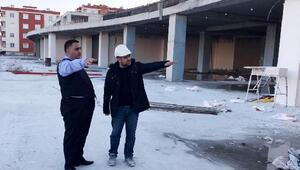 Başkan Can, Yaşam Merkezi inşaatını inceledi