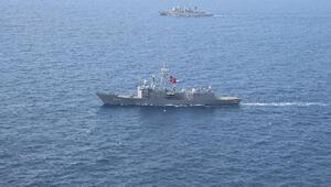 TCG GAZİANTEP ve HS NAVARINON Ege Denizinde bu kez Odak Harekatı için yan yana geldi