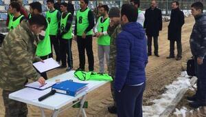 Adilcevaz'da güvenlik korucusu adaylarına fiziki yeterlilik sınavı