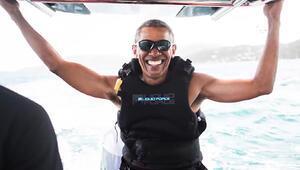 Obama soluğu Karayipler'de aldı