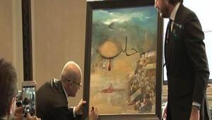 Mehmet Şimşekin resmi 151 bin liraya satıldı