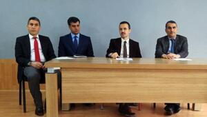 Kaymakam Karaman, okul müdürleri ile toplantı yaptı