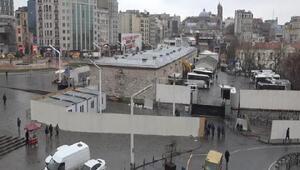 Taksimdeki cami alanında şantiye hazırlıklarına başlandı