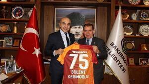 G.Saray Başkanı Dursun Özbekten, Bakırköy Bld. Başkanı Bülent Kerimoğluna ziyaret