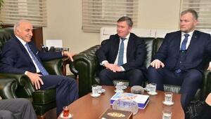 RusLine Havayolları şirketi yetkilileri Vali Şahini ziyaret etti
