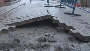 Üsküdardaki tünel inşaatı yakınındaki binalarda çatlaklar oluştu