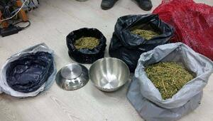 Çuvalda 3 kilo esrar ele geçirildi: 5 gözaltı