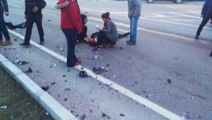 Kamyonetle minibüs çarpıştı: 1 ölü, 4 yaralı
