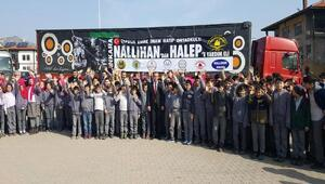 Ortaokul öğrencileri Halep için seferber oldu