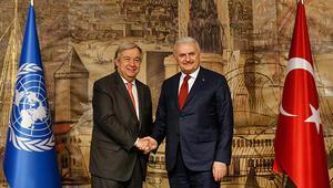 Başbakan Yıldırım BM Genel Sekreteri Guterres ile görüştü