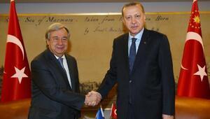 Cumhurbaşkanı Erdoğan, BM Genel Sekreteri Guterresi kabul etti