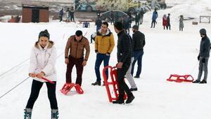 Karacadağ'da kayak keyfi