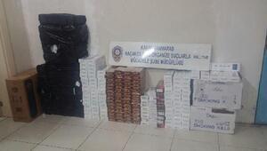 Evde 4 bin 600 paket kaçak sigaraya gözaltı