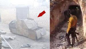 DEAŞın tünelleri, bombalı aracı böyle görüntülendi