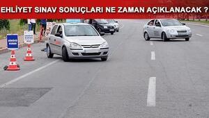 Ehliyet sınav sonuçları açıklandı mı 11 Şubat ehliyet sınavında son durum