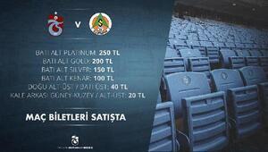 Trabzonspor'da Aytemiz Alanyaspor maçı biletleri satışa çıktı