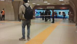 Kartal metro istasyonunda olay