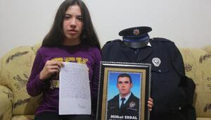Polis kızından Cumhurbaşkanı Erdoğana şehitlik mektubu