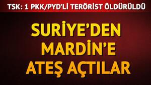 TSKdan son dakika açıklaması: Suriyeden Mardine ateş açıldı
