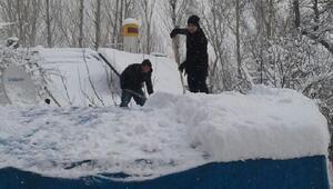 Gevaşta okullara kar tatili