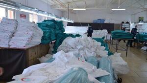 Hastanelerin tekstil ihtiyaçlarını mahkumlar üretecek