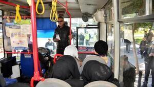 Halk otobüsleri sivil trafik polisleriyle denetlendi
