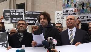 ODATV Davası öncesi gazetecilerden adliye önünde basın açıklaması