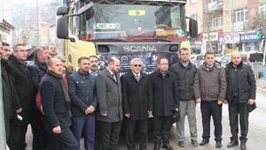 Amasya'dan Halep'e yardım TIRı gönderildi