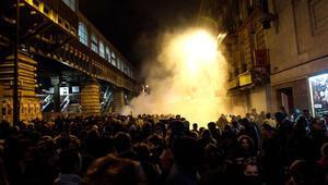 Göstericiler yine polisle çatıştı