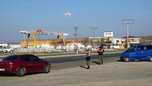 Jandarmadan Drone ile havadan denetim