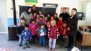 Konak çalışanları köy okulunu ziyaret etti