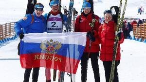 Avrupa Gençlik Olimpik Kış Festivalinde Rusya biatlon bayrak yarışında 1inci oldu