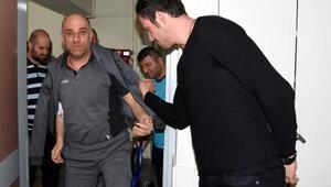 Göztepe hentbol antrenörü Öztürke ziyaret:Geçmiş olsun hocam