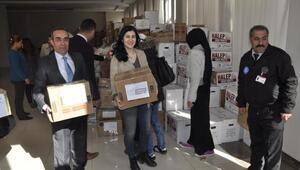 Üniversiteli öğrencilerden Suriyeye yardım