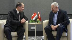Başbakan Binali Yıldırımla görüşen Barzani Türk gazetecilere konuştu