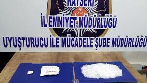 Kayseride uyuşturucu operasyonu: 2 gözaltı