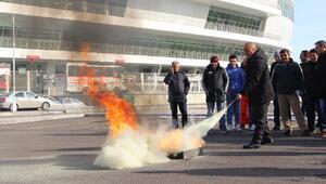 4 Eylül Stadında yangın tatbikatı