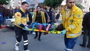 Otomobilin çarptığı küçük kızın feryatları yürek dağladı