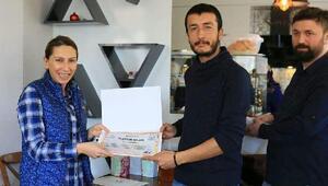 Suriye sınırında görev yapan sağlıkçılara teşekkür belgesi