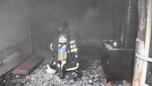 Yangında 3 yaşındaki Şahin ağır yaralandı
