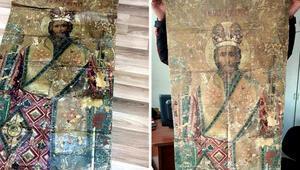 18'inci yüzyıldan ikona ile yakalandılar