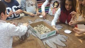 Çanakkalede çocuklar mozaik sanatını öğrendi