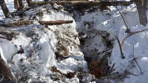 Bingölde tespit edilen PKKya ait sığınak imha edildi